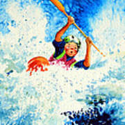The Kayak Racer 16 Art Print by Hanne Lore Koehler