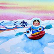 The Kayak Racer 3 Art Print