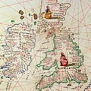 The Kingdoms Of England And Scotland Art Print