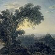 The Lake Of Albano And Castle Gandolfo  Art Print