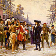 The Landing Of William Penn, 1682 Art Print by Photo Researchers