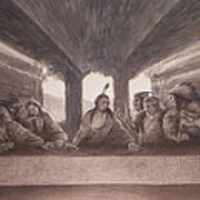 The Last Pow Wow Art Print