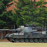 The Leopard 1a5 Main Battle Tank In Use Art Print