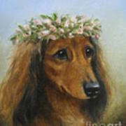 The Little Flower Girl Art Print