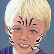 The Littlest Zebra Art Print