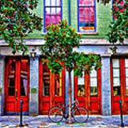 The Locked Bicycle - New Orleans Art Print