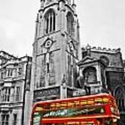 The London Bus Art Print