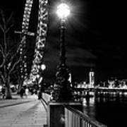 The London Eye At Night Art Print