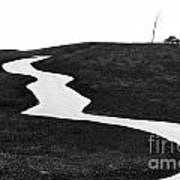 The Long And Winding Road Bw Art Print