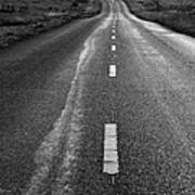 The Long Road Home . 7d9898 . Black And White Art Print by Wingsdomain Art and Photography