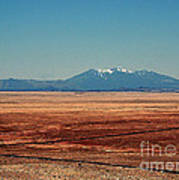 The Long Road To The Meteor Crater In Az Art Print