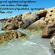 The Lord Is My Rock Art Print