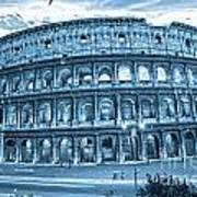 The Majestic Coliseum Art Print by Luciano Mortula