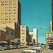 The Majestic Theatre In Abilene Tx 1958 Art Print