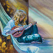 The Mandolin Player Art Print by Gilly Marklew