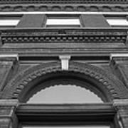 The Manley Popcorn Building Bw Art Print by Elizabeth Sullivan
