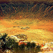 The Meteor Crater In Az 1 Art Print