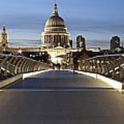The Millennium Bridge Looking North Art Print