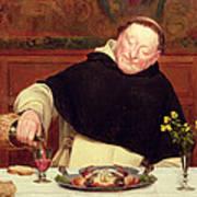 The Monk's Repast Art Print