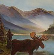 The Mountain Moose Art Print