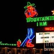 The Mountaineer Inn Neon Motel Series Art Print