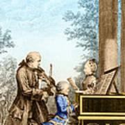 The Mozart Family On Tour 1763 Art Print