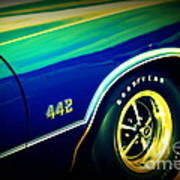 The Muscle Car Oldsmobile 442 Art Print
