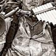 The Music Man - Monochrome Art Print