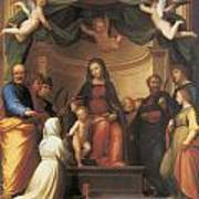 The Mystical Marriage Of Saint Catherine Art Print by Fra Bartolomeo