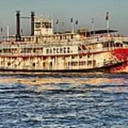 The Natchez Riverboat Art Print