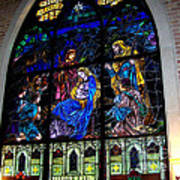 The Nativity Stained Glass Art Print