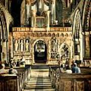 The Nave At St Davids Cathedral 2 Art Print