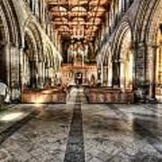 The Nave At St Davids Cathedral 3 Art Print