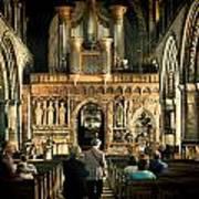 The Nave At St Davids Cathedral Art Print