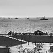 The Navy Fleet In New York Bay Art Print