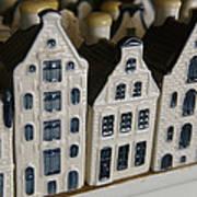 The Netherlands, Amsterdam, Model Houses Art Print