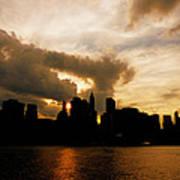 The New York City Skyline At Sunset Art Print by Vivienne Gucwa
