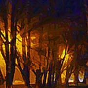 The Night Lights Art Print