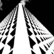 The Office Building Bw Art Print