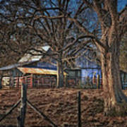 The Old Barn Print by Brenda Bryant