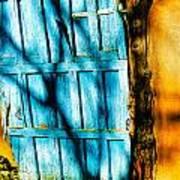 The Old Blue Door Art Print