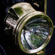The Old Brass Ford Headlight Art Print by Steve McKinzie