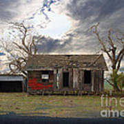 The Old Farm House In My Dreams Print by Wingsdomain Art and Photography
