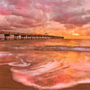 The Old Fishing Pier Art Print