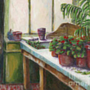The Old Garden Shed Art Print by Judith Whittaker