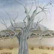 The Old Gum Tree Art Print by Debra Piro