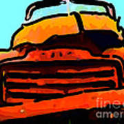 The Old Jalopy . 7d8396 . Color Sketch Style Art Print by Wingsdomain Art and Photography