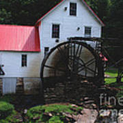 The Old Mill 1886 In Cherokee North Carolina Art Print