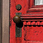 The Old Red Door Art Print