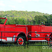 The Old Red Fire Engine Art Print